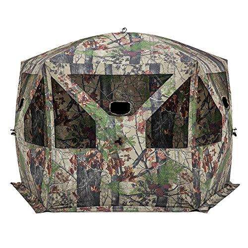 Barronett Blinds PT550BW Pentagon Pop Up Portable Hunting Blind, Backwoods Camo