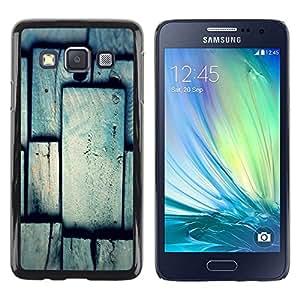 Be Good Phone Accessory // Dura Cáscara cubierta Protectora Caso Carcasa Funda de Protección para Samsung Galaxy A3 SM-A300 // Tile Pattern Grey Gray Polygon