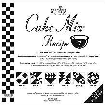 """Moda Cake Mix Recipe #7 ~44 recipe cards will make 176 3"""" HST & 704 1 1/2"""" Fin HST"""