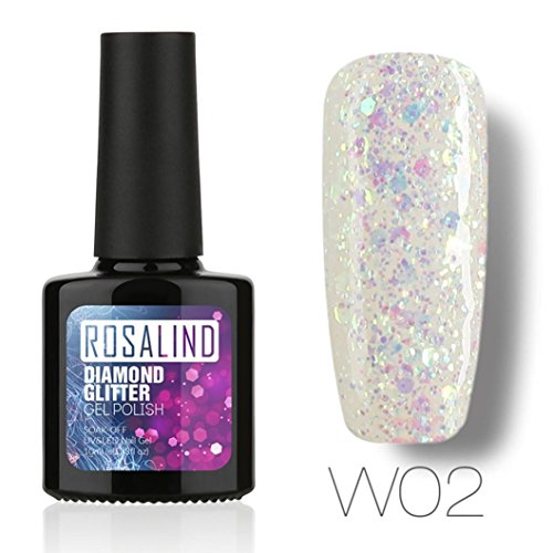 (10ML Diamonds Gel Nail Polish Nail Art Gel Polish UV LED Gel Polish )