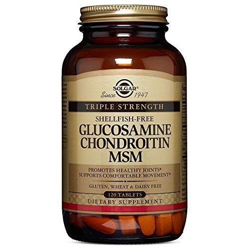 Solgar - Triple Strength Glucosamine Chondroitin MSM (Shellfish-Free) 120 Tablets