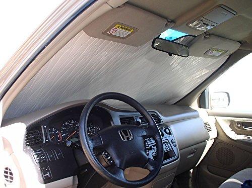 The Original Windshield Sun Shade, Custom-Fit for Honda Odyssey Minivan 2005, 2006, 2007, 2008, 2009, 2010, Silver - Odyssey Honda Sunshade