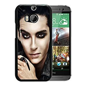 Tokio Hotel Soloist Face Make Up Look Black Personalized Recommended Custom HTC ONE M8 Phone Case