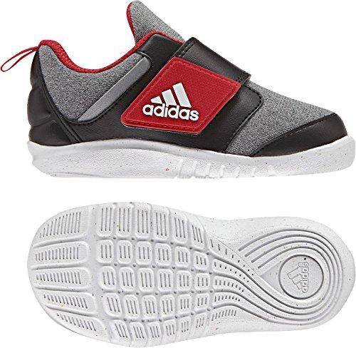 adidas FortaPlay AC I - Zapatillas de deportepara niños, Gris - (BRGRIN/NEGBAS/ROJBAS), 21