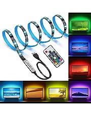 Opard LED Strip,TV LED Hintergrundbeleuchtung RGB 5050 2M LED Streifen Für 40 bis 60 HDTV USB LED TV Beleuchtung mit 17keys Remote, LED Fernseher Beleuchtung wasserdicht IP65 [Energieklasse A++]