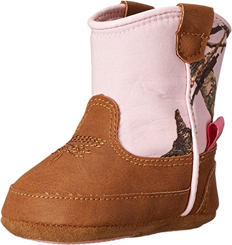 Double Barrel Infant-Girls' Jobie Mossy Oak Cowgirl Booties Brown 4 US