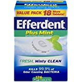 Efferdent Plus Mint Anti-Bacterial Denture Cleanser Tablets, 126 Count