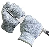 Blade Resistant Lightweight Gloves ASNI Level 5 Protection,Safety Hand Gloves,Working with Knives,Cutters,Graters in Kitchen,Woodworking,Carving,Carpentry(Medium)
