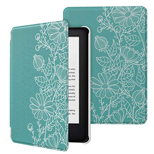 MoKo Case Fits All-New Kindle 10th Generation 2019 Release, Premium Ultra Lightweight Shell Cover with Auto Wake/Sleep Function - Line Drawings