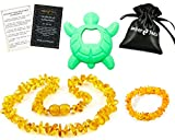 Best Teething Remedies - Baltic Amber Teething Necklace Gift Set + FREE Review