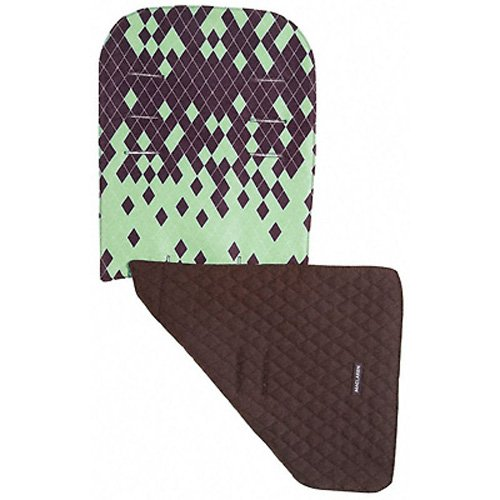 Seat Liner Dripping Diamonds Marsh Green Coffee Brown ()