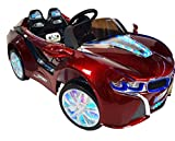 BMW I8 Style Premium Ride On Electric Toy Car for Kids - 12V Battery Powered - LED Lights - MP3 - RC Parental Remote Controller - Suitable for Boys & Girls - Real Paint - Red