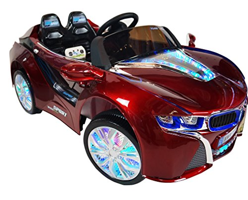 BMW-i8-Style-Premium-12-volt-MP3-Electric-Battery-Powered-Ride-On-Kids-Boys-Girls-Toy-Car-RC-Parental-Remote-LED-Lights-Music-Real-Paint-Red