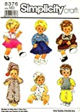 Simplicity 8376 Sewing Pattern Tiny Tears Baby Dolls Wardrobe by Simplicity
