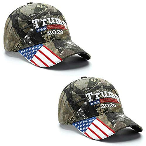 2 Pack - Make America Great Again Hat, Donald Trump MAGA Cap Adjustable 2020 Keep America Great Baseball Hat (Desert Camouflage)