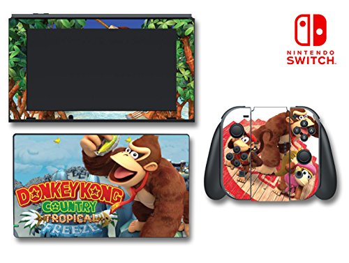 Donkey Kong Country Tropical Freeze Jr Dixie Cranky Video Game Vinyl Decal Skin Sticker Cover For Nintendo Switch Console System