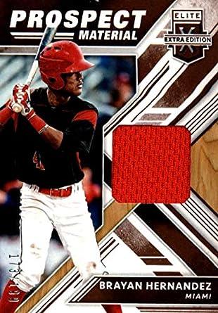 Amazon com: 2018 Elite Extra Edition Prospect Material Baseball #7