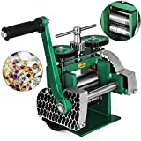 Mophorn Jewelry Rolling Mill Combination Rolling Mill 120mm Wide 55mm Diameter Rollers Manual Rolling Mill Machine Jewelry Marking Tools for Jewelers and Crafts-People