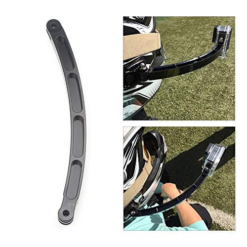 CNC Aluminum Alloy Helmet Stick Extension Arm Mount for GoPro Hero 7 5 6 4 for Xiaomi Yi for SJCAM SJ4000 for EKEN H9 Sport Camera Action Camera Accessory (Gopro Helmet Extension)