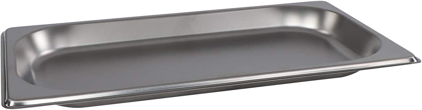 Lot45 Stainless Steel Steam Pan - 1/3 Size Hotel Table Pans, Chafing Buffet Restaurant Trays for Catering, 1in Deep 1pk