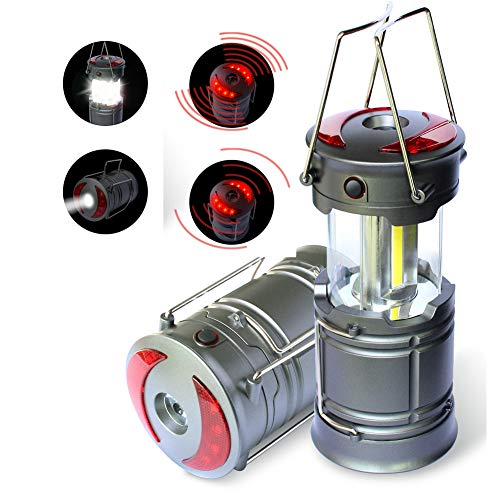 Logo Beam Flashlight - Portable Camping Lantern Emergency Beacon 350lm COB Magnetic Base Light LED Flashlight, 4 Modes Collapsible & Rainproof Brightest Tough Lamp for Tent Garden Patio Shed Attic Car Garage, Storm, Outage