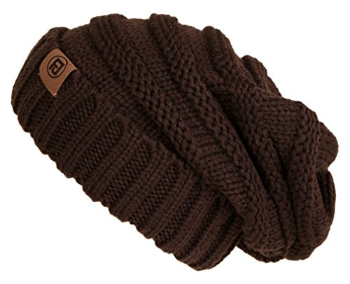 F2-6100.07 Oversized Beanie - Brown
