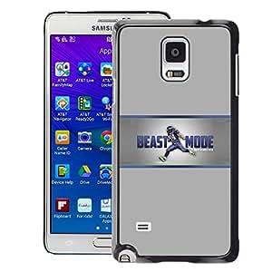 SKCASE Center / Funda Carcasa - Modo bestia - Samsung Galaxy Note 4