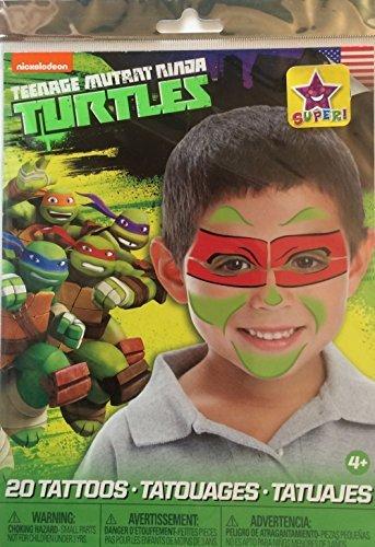 Teenage Mutant Ninja Turtles Mask Children Temporary Tattoos – Raphael (Ninja Turtles Face)