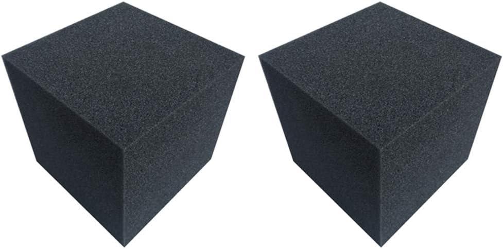 Lot de 2 cubes acoustiques en mousse acoustique pour studio Absorption des basses 20 cm pour KTV One Size Comme indiqu/é.