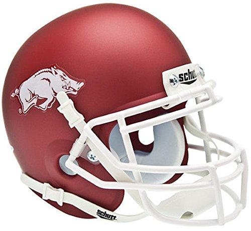 Schutt Arkansas Razorbacks Mini XP Authentic Helmet - Matte Crimson - NCAA Licensed - Arkansas Razorbacks Collectibles