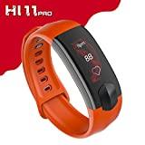Smart Bracelet,Bluetooth Smart Watch with Heart Rate Monitor Blood Pressure Fitness Waterproof Clock Activity Wristband Colorful Touch Screen Smart Watch for Phones(Orange) Boens