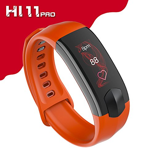 Smart Bracelet,Bluetooth Smart Watch with Heart Rate Monitor Blood Pressure Fitness Waterproof Clock Activity Wristband Colorful Touch Screen Smart Watch for Phones(Orange) Boens by Boens