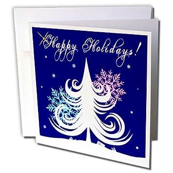 Amazon 3drose alexis design holidays christmas white blue 3drose alexis design holidays christmas white blue pink color christmas tree and m4hsunfo