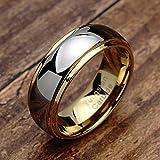 100S JEWELRY Tungsten Rings for Men Women Wedding