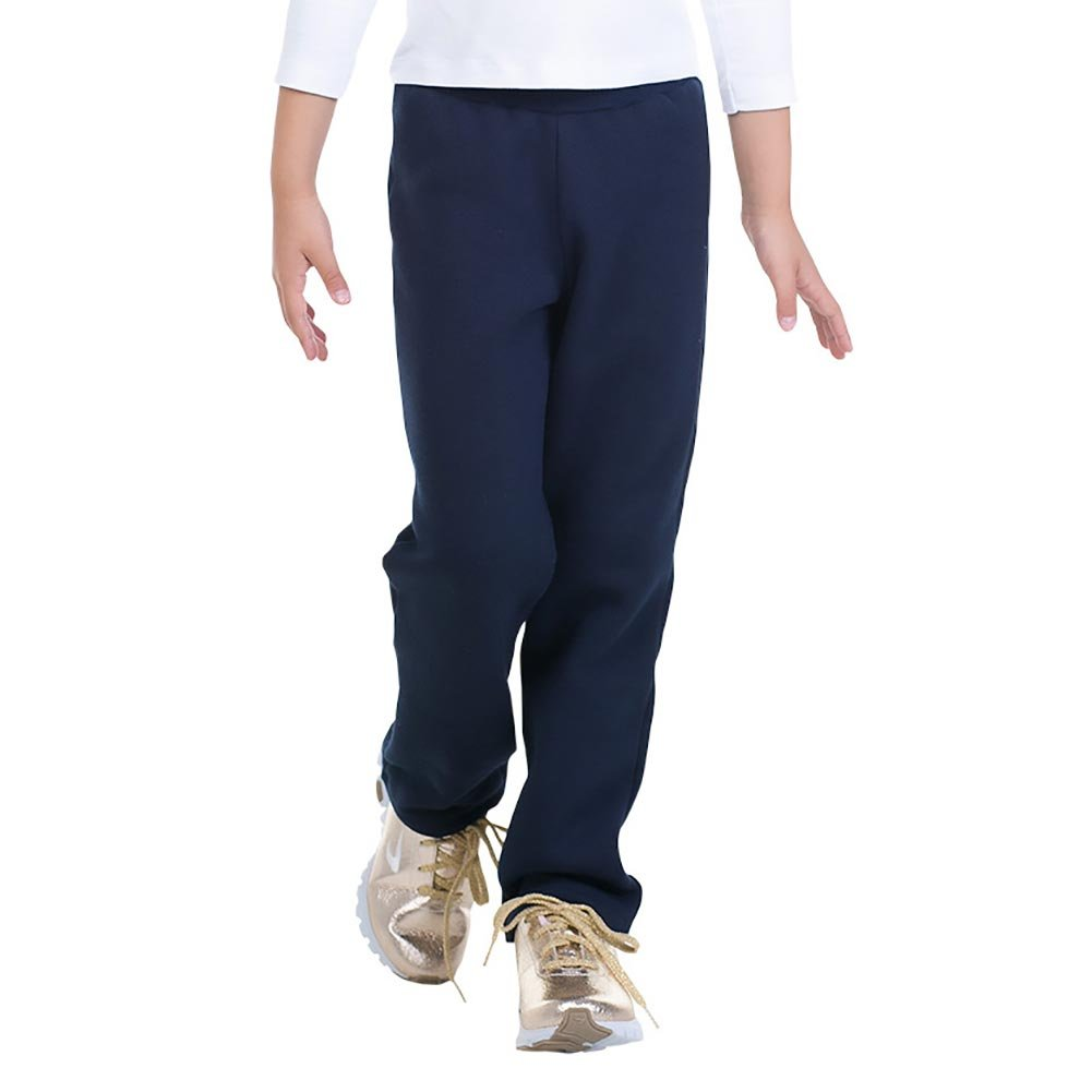 Pulla Bulla Girl Sweatpants Full Length Color Pants Size 6 Navy Blue