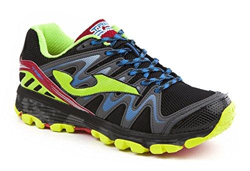 Joma Trek, Zapatillas de Running para Asfalto para Hombre Negro (Black-fluor)