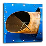 3dRose Alexis Photography - Abstracts of Aviation - Exhaust pipe of a vintage piston engine aircraft. Heavily used - 13x13 Wall Clock (dpp_272021_2)