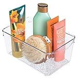 InterDesign Rain Organizador de Maquillaje, contenedor plástico para Productos de cosmética y Belleza, Transparente