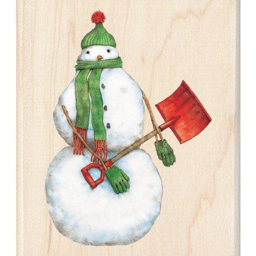 Inkadinkado Wood Stamp, Snowman Shoveler