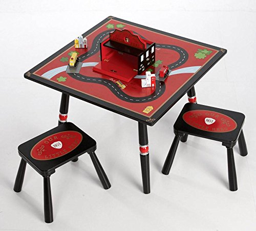 Wildkin Firefighter Table & 2 Stool Set by Wildkin