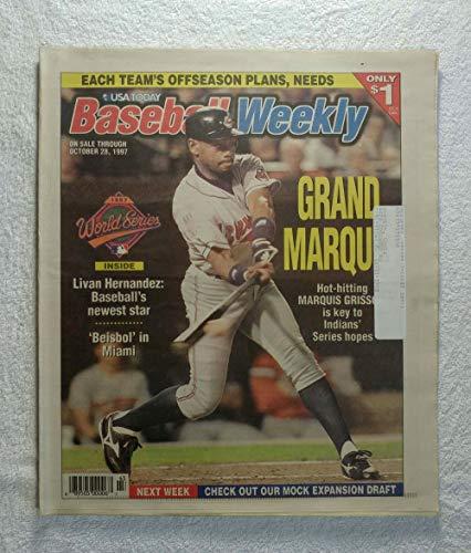 Marquis Grissom (Cleveland Indians) - 1997 World Series - Baseball Weekly Magazine - October 28, 1997 - Livan Hernandez (Florida Marlins), Beisbol in ()