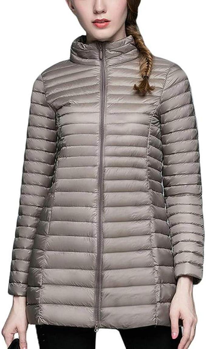 Winter Women Stand Collar 90/% White Duck Down Jacket Jackets Slim Long Sleeve Parkas