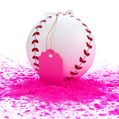 Winsharp Gender Reveal Baseball - Single Balls - Exploding Pink and/or Blue Powder Baseballs - Choose Your Ball Color - Best Idea for Boy or Girl Softball Baby Sex Revealing