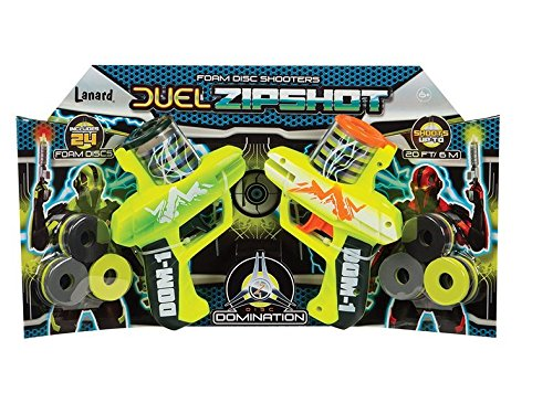 Zip Shot Twin Pack Foam Shooters with 24 Discs (Foam Shooter Gun)