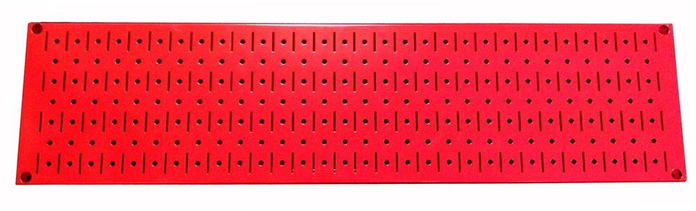 Wall Control 30-P-0832 BE Narrow Rack Metal Pegboard Runner Tool Board, 8-Inch by 32-Inch, Beige