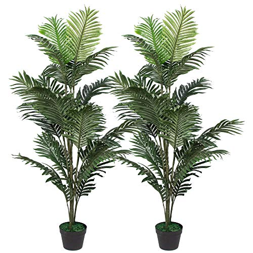 Ruopei Fake Palm Tree for Home Office and Restarunt Decor (Green Set of - Large Tree Palm