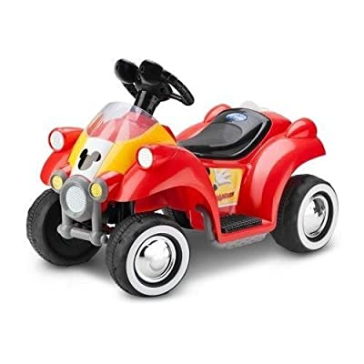 Kid Trax Disney Mickey Mouse Hot Rod Quad 6-Volt Battery-Powered Ride-On: Toys & Games