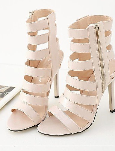 ShangYi Toe Heel Open Sandals Party Wedding Almond Dress amp; Heels Evening Women's rwZrqnIR