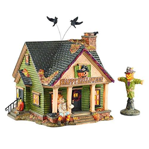 Department 56 Snow Village Halloween Scarecrow Light House, 6.9