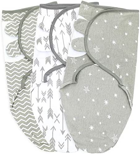 Baby Swaddle Blankets, Small/Medium, 0-3 Month, Grey